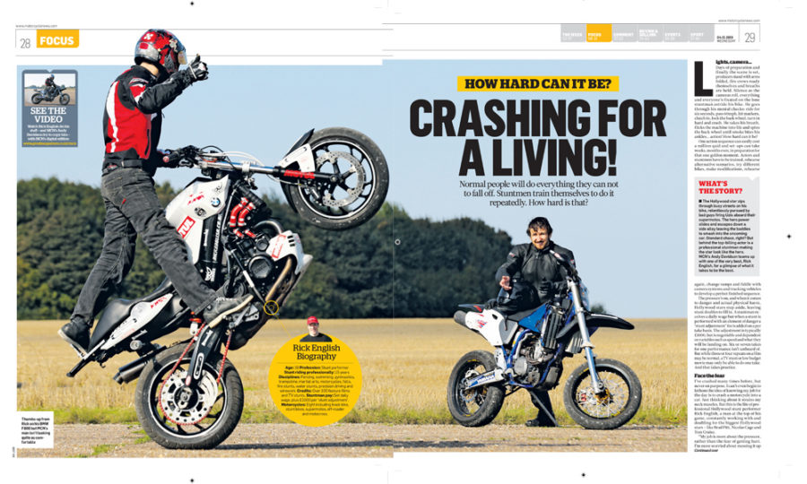 MCN Stunt riding article